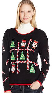 Women's Tic-Tac-Toe Christmas Sweater