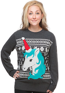 Women's Unicorn Christmas Sweater