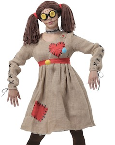 Women's Halloween Voodoo Doll Costume