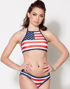 US Flag Bikini Set