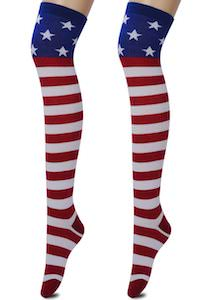 US Flag Knee High Socks