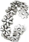 Silver Daisies Toe Ring