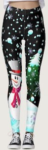 Snowman and Tree Leggings