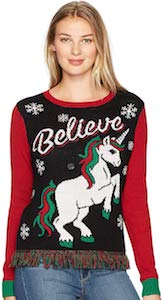 Unicorn Believe Christmas Sweater