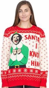 Elf Santa I Know Him Christmas Sweater