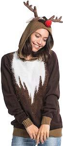 Reindeer Christmas sweater Hoodie