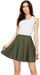 Stretchy Flare Skater Skirt