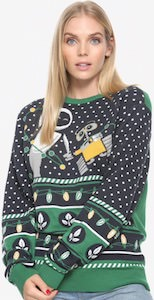 Wall-E And Eve Holding Hands Christmas Sweater