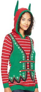 Women's Elf Costume Christmas Hoodie