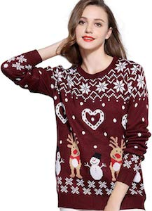 Women's Reindeer and Snowmen Christmas Sweater