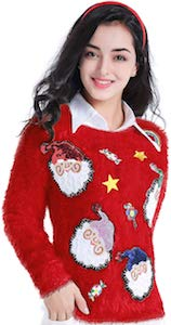 Fluffy Santa Christmas Sweater