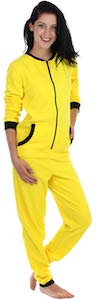 Women's Yellow Onesie Pajama