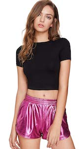 Women's Metallic Shorts