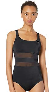 Nike Mesh Solid Edge Swimsuit