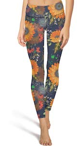 Sunflower Print Leggings