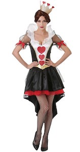 Women's Queen Of Hearts Dress Costume