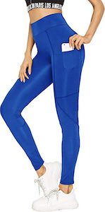 Blue Leggings With Pocket