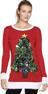 women's Festive Christmas Tree Sweater