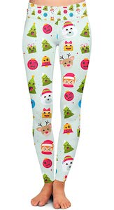 Christmas Emojis Leggings