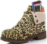 Women's Leopard Print Ankle Boots
