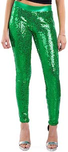 Green Sequin Leggings