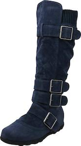 Knee High Buckle Boots