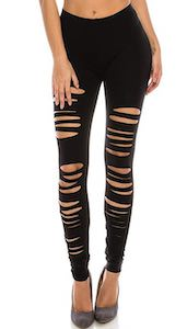 Women's Ripped Stretch Leggings