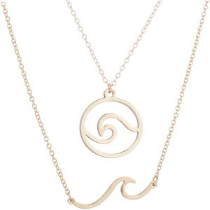 Double Waves Necklace Set