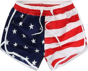 Women's US Flag Workout Shorts