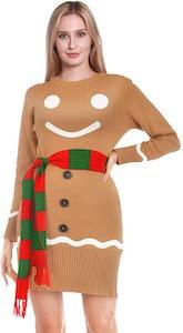 Gingerbread Man Ugly Christmas Dress
