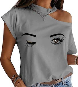 Women's Cutout Winky Eye T-Shirt