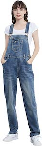 Women's Straight Leg Denim Overalls