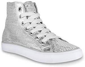 Sequin High Top Sneakers