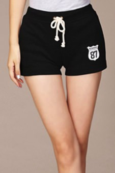 Black sporty shorts