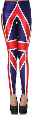 UK Union Jack flag leggings