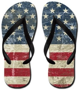 USA Flag Flip Flops