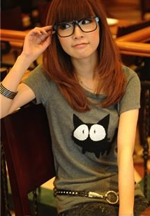 Funny Cat t-shirt for girls