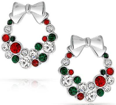 Christmas Wreath Bow Earrings