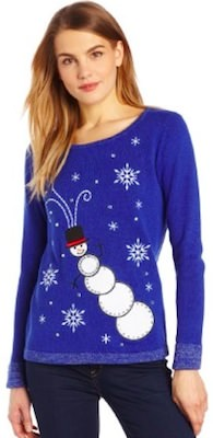 Ugly Christmas sweater with a snowman