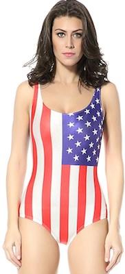 American Flag Bathing suit
