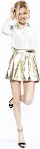 Metallic Gold Skirt