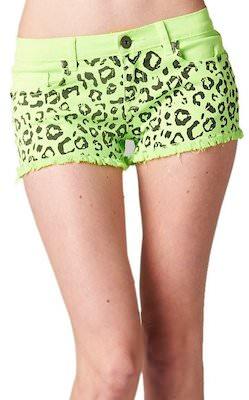 Leopard Print Cut Off Shorts