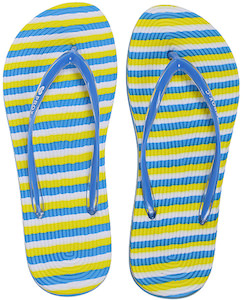 Fun Striped Blue Flip Flops