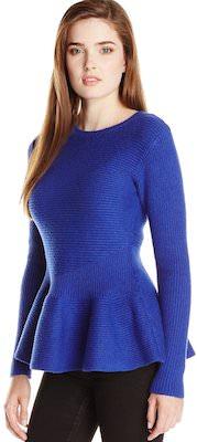Women's Ted Baker Edenia Ribbed Blue Sweater