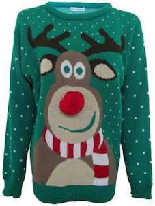 Women S Rudolph The Red Nose Reindeer Christmas Sweater