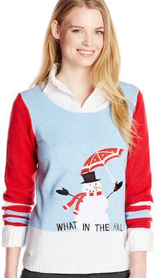 Women's What In The Hail? Snowman Christmas Sweater