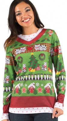 Crazy Cat Lady Ugly Christmas Sweater