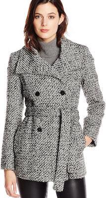 Calvin Klein Black And White Women's Coat