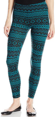 Green leggings with fun shapes