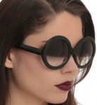 women's Round Duo Tone Sunglasses